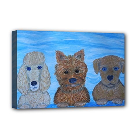 Puppy Pals Deluxe Canvas 18  x 12