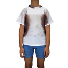 Welsh Springer Spaniel Eyes Kid s Short Sleeve Swimwear