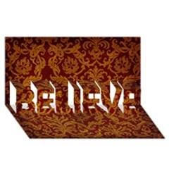 Royal Red And Gold Believe 3d Greeting Card (8x4)