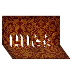 ROYAL RED AND GOLD HUGS 3D Greeting Card (8x4)