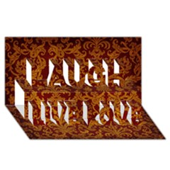 Royal Red And Gold Laugh Live Love 3d Greeting Card (8x4)