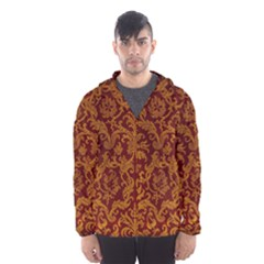 ROYAL RED AND GOLD Hooded Wind Breaker (Men)