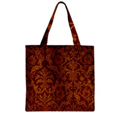 ROYAL RED AND GOLD Zipper Grocery Tote Bags