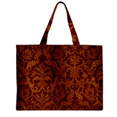 Royal Red And Gold Zipper Tiny Tote Bags