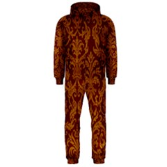 ROYAL RED AND GOLD Hooded Jumpsuit (Men)