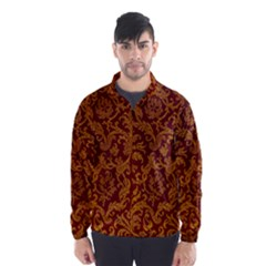 Royal Red And Gold Wind Breaker (men)