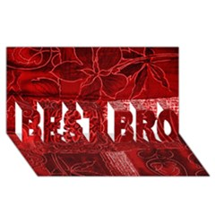 Red Patchwork Best Bro 3d Greeting Card (8x4)