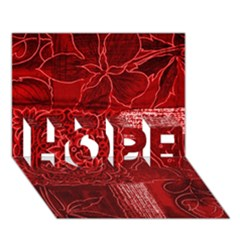 Red Patchwork Hope 3d Greeting Card (7x5)