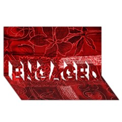 RED PATCHWORK ENGAGED 3D Greeting Card (8x4)