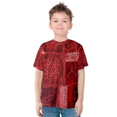 RED PATCHWORK Kid s Cotton Tee