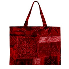 Red Patchwork Tiny Tote Bags