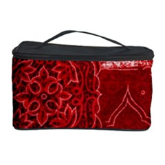 RED PATCHWORK Cosmetic Storage Cases