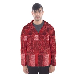 Red Patchwork Hooded Wind Breaker (men)