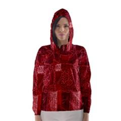 Red Patchwork Hooded Wind Breaker (women)