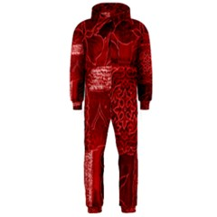 Red Patchwork Hooded Jumpsuit (men)
