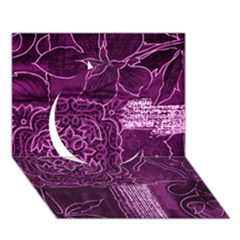 MAGENTA PATCHWORK Circle 3D Greeting Card (7x5)