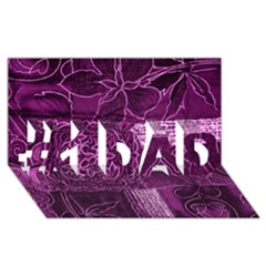 Magenta Patchwork #1 Dad 3d Greeting Card (8x4)