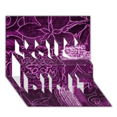 MAGENTA PATCHWORK You Did It 3D Greeting Card (7x5)