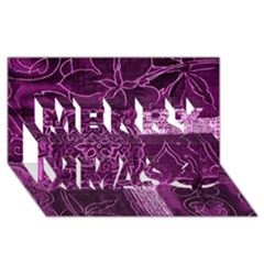 MAGENTA PATCHWORK Merry Xmas 3D Greeting Card (8x4)