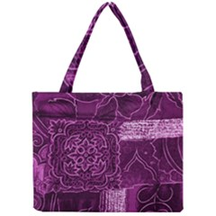 MAGENTA PATCHWORK Tiny Tote Bags