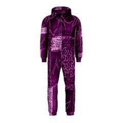 MAGENTA PATCHWORK Hooded Jumpsuit (Kids)
