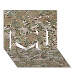 Camo Woodland Faded I Love You 3d Greeting Card (7x5)