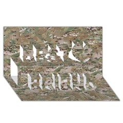 Camo Woodland Faded Best Friends 3d Greeting Card (8x4)