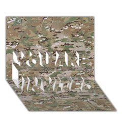 CAMO WOODLAND FADED YOU ARE INVITED 3D Greeting Card (7x5)