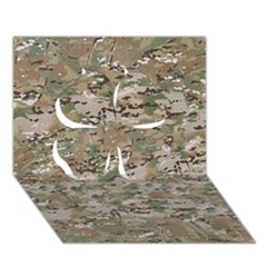 Camo Woodland Faded Clover 3d Greeting Card (7x5)