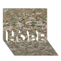 CAMO WOODLAND FADED HOPE 3D Greeting Card (7x5)