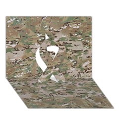 CAMO WOODLAND FADED Ribbon 3D Greeting Card (7x5)