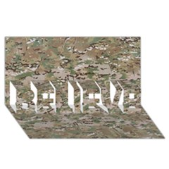 Camo Woodland Faded Believe 3d Greeting Card (8x4)