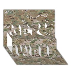 CAMO WOODLAND FADED Get Well 3D Greeting Card (7x5)