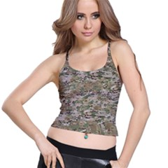 CAMO WOODLAND FADED Spaghetti Strap Bra Tops