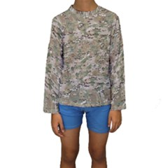 CAMO WOODLAND FADED Kid s Long Sleeve Swimwear