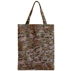 Camo Woodland Faded Zipper Classic Tote Bags