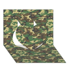 CAMO WOODLAND Heart 3D Greeting Card (7x5)