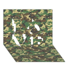 Camo Woodland Love 3d Greeting Card (7x5)