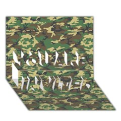 CAMO WOODLAND YOU ARE INVITED 3D Greeting Card (7x5)
