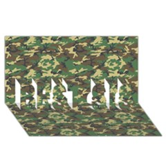 CAMO WOODLAND BEST SIS 3D Greeting Card (8x4)