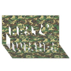 Camo Woodland Best Wish 3d Greeting Card (8x4)