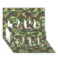 Camo Woodland Take Care 3d Greeting Card (7x5)