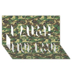 CAMO WOODLAND Laugh Live Love 3D Greeting Card (8x4)