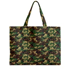 CAMO WOODLAND Zipper Tiny Tote Bags