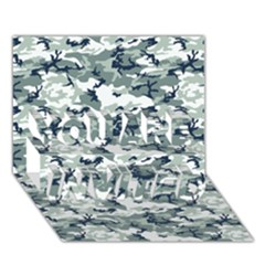 CAMO URBAN YOU ARE INVITED 3D Greeting Card (7x5)