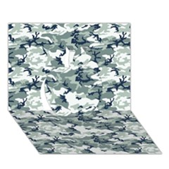 Camo Urban Apple 3d Greeting Card (7x5)