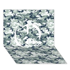 Camo Urban Peace Sign 3d Greeting Card (7x5)