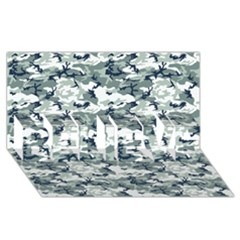 Camo Urban Believe 3d Greeting Card (8x4)