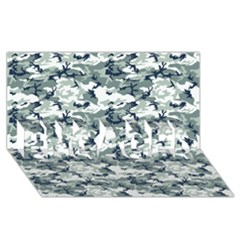 Camo Urban Engaged 3d Greeting Card (8x4)