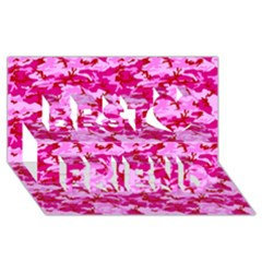 CAMO PINK Best Friends 3D Greeting Card (8x4)